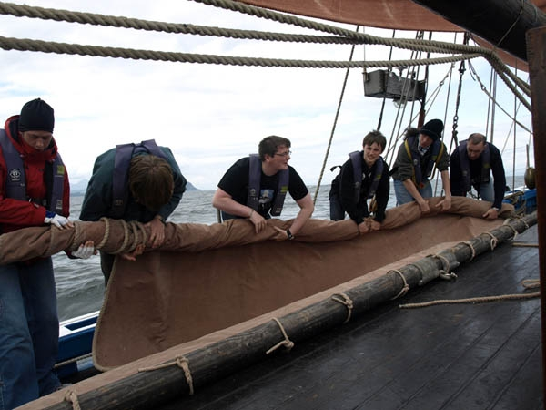 the Tall Ships Race is all about working as a team!