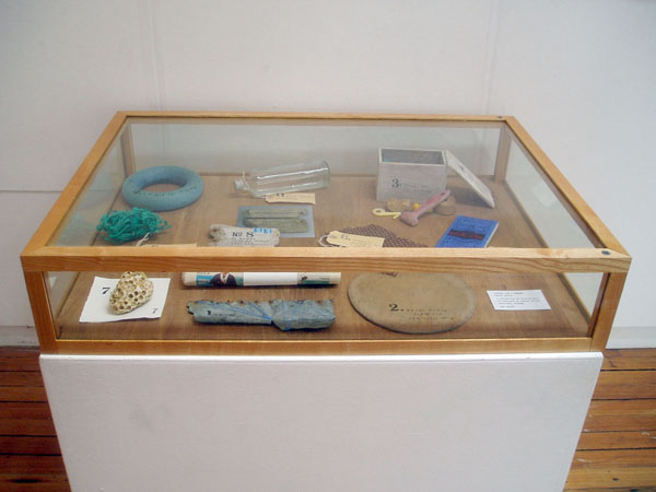 A collection of found and adapted objects typical to Shetland.