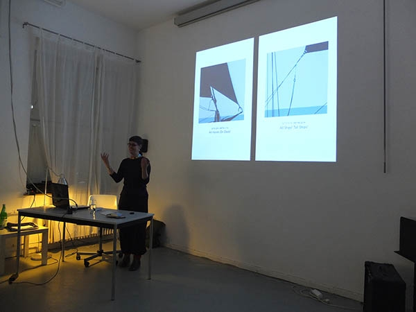 Maufe and Rangsch gave a presentation about their own projects that inspired the  organising of the exhibition.